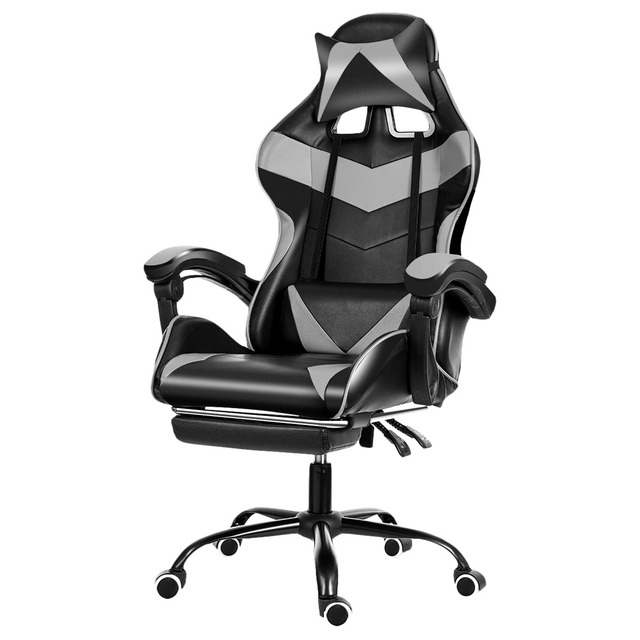 Office Gaming Chair WCG Gaming Chair Home Internet Cafe Gamer Chair Ergonomic Computer Office Chair Swivel Lifting LyingFootrest 2
