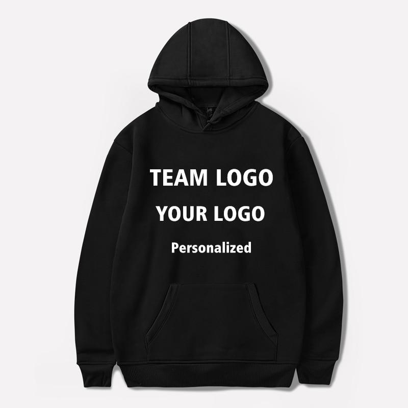 Personal Customized Logo Printing Hooded Sweatshirt Pullover Hoodies Lover Streetwear Men/women Autumn Winter Casual Hoodies