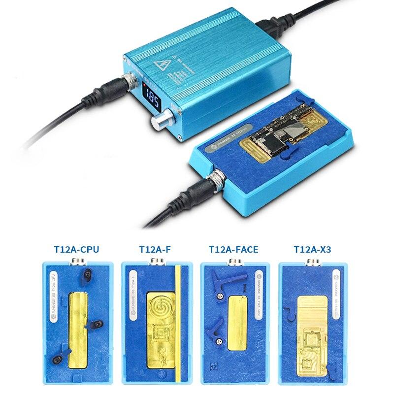 SS T12A outil de réparation de carte mère pour iPhone X XS MAX CPU identification de visage plate-forme de démontage de chauffage outils de Station de dessoudage