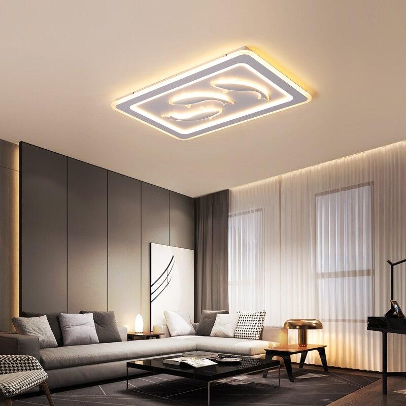 Лампа для гостиной в скандинавском стиле, лампа с дизайном карпа, простая современная личность, мода, квадратная спальня, кабинет
