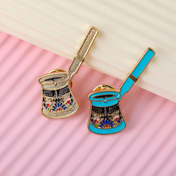 Coffee Enamel Pin Witch's Brew Princess badge brooches Lapel pin Jeans shirt Backpack Cartoon Jewelry Gift Coffee Lovers