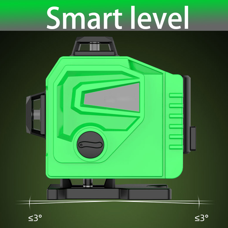 Tools : 16 Lines Laser Level Powerful 3D Self-Leveling Horizontal amp Vertical Cross Lines 360 Degrees Rotary Adjustment