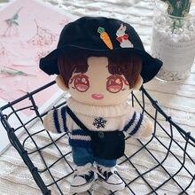 20cm boneca corpo-forma preto terno substituível ídolo boneca roupas do bebê chapéu satchel brinquedo de pelúcia acessórios presente de aniversário