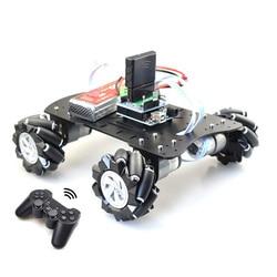 80mm Mecanum plataforma acrílica omnidireccional Mecanum rueda Robot coche con Arduino MEGA o con Control electrónico STM32