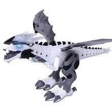 Большой динозавр игрушки для детей белый спрей Электрический динозавр механический Птерозавр Динозавр мир игрушки для мальчиков и девочек новое поступление