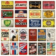 Motul – Plaque murale en métal, affiche d'art Vintage, Plaque de peinture, Station-service, Pub Club, Garage, décoration YM026