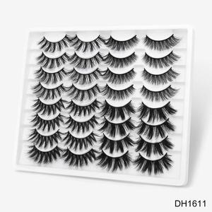 Image 2 - SEXYSHEEP 10 זוגות 3D רך פו מינק ריסים מלאכותיים טבעי מבולגן עפעף חוצה דליל ריסים הארכת עיניים איפור כלים
