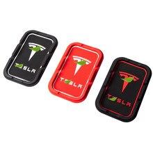 Sostenedor del teléfono del coche Pad Anti-Soporte de alfombrilla antideslizante soporte para montaje en Tesla modelo S Modelo X modelo 3 75D 90D P100D accesorio del coche