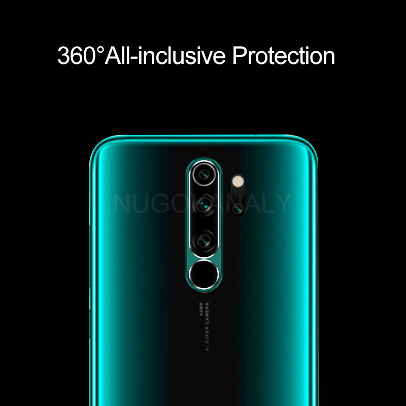 Full Cover Metal Ring Camera Lens And Tempered Glass For Redmi Note 8 Pro 8T 2