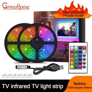 ColorRGB, IR Control,TV Backlight,USB Powered LED strip light ,RGB5050 For 22 Inch-75 Inch TV,Flexible LEDTape Ribbon image