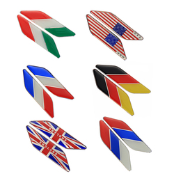 2Pcs Fender Metal Decal Car Italy Flag Logo Italian Emblem Stickers Side Badge for Car-styling Decoration