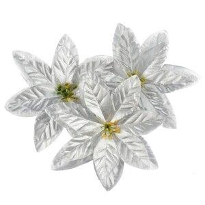 Image 5 - 10 sztuk 14cm flanela duże sztuczne główki kwiatu róży dla domu dekoracje ślubne Scrapbooking choinka bożonarodzeniowa DIY jedwabne kwiaty