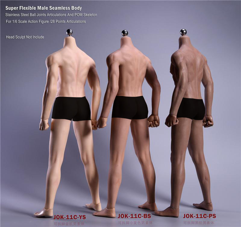 Male Seamless man Body Model Wheat 1//6 Scale JIAOU DOLL JOK-11C-BS Figure Toy