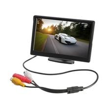 """شاشة سيارة 5 بوصة TFT LCD 5 """"HD الرقمية 16:9 800*480 شاشة 2 طريقة إدخال الفيديو لعكس كاميرا الرؤية الخلفية DVD VCD"""