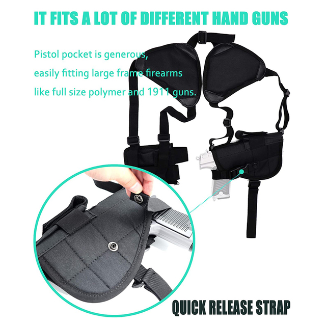 Tactical Gun Holster Universal Left Right Hand Pistol Gun Carry Pouch Concealed Shoulder Holster For Glock 17 19 Gun Accessories 5