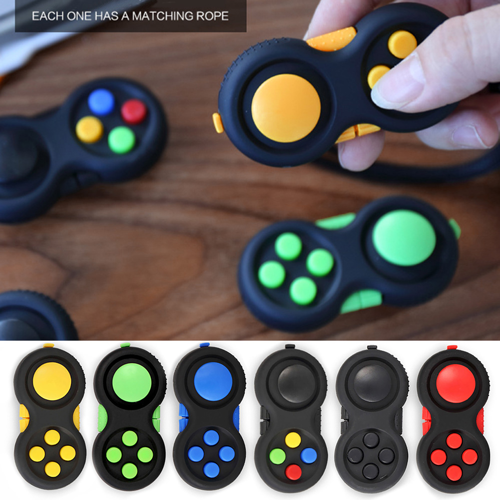1PC Game Fidget Pad Stress Reliever Squeeze Fun Magic Desk Toy Handle Toys Stress Decompression Gift Key Mobile Phone Accessory