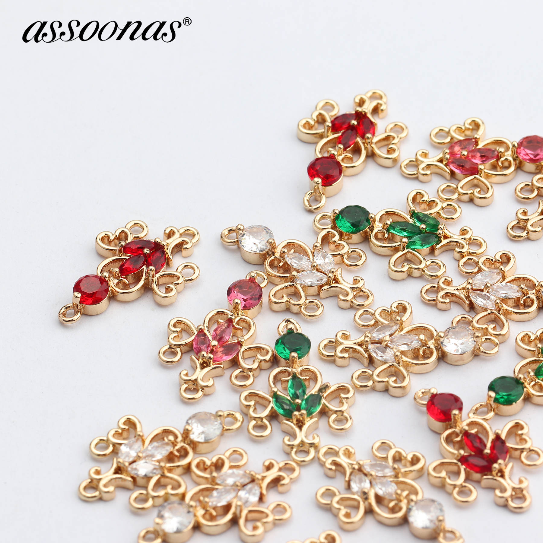 Assoonas M685,jewelry Accessories,diy Zircon Pendant,jewelry Findings,handmade,copper Metal,diy Earring,jewelry Making,10pcs/lot
