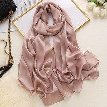 Oversize Muslim Plain Hijab Scarf Women Bubble Chiffon Scarf Headband Shawls and Wraps Solid Foulard Pashmina Scarves Headscarf