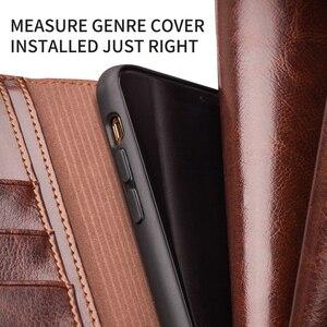 Image 5 - QIALINO Чехол книжка из натуральной кожи для iPhone 11/11 Pro Max, чехол для телефона ручной работы с отделениями для карт для iPhone 12 Mini/12 Pro Max
