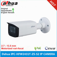 Dahua Versão Internacional IPC-HFW2431T-ZS-S2 4MP IR60M POE 2.7 milímetros-13.5mm Motorizada vari-focal Bala Câmera de Rede IP