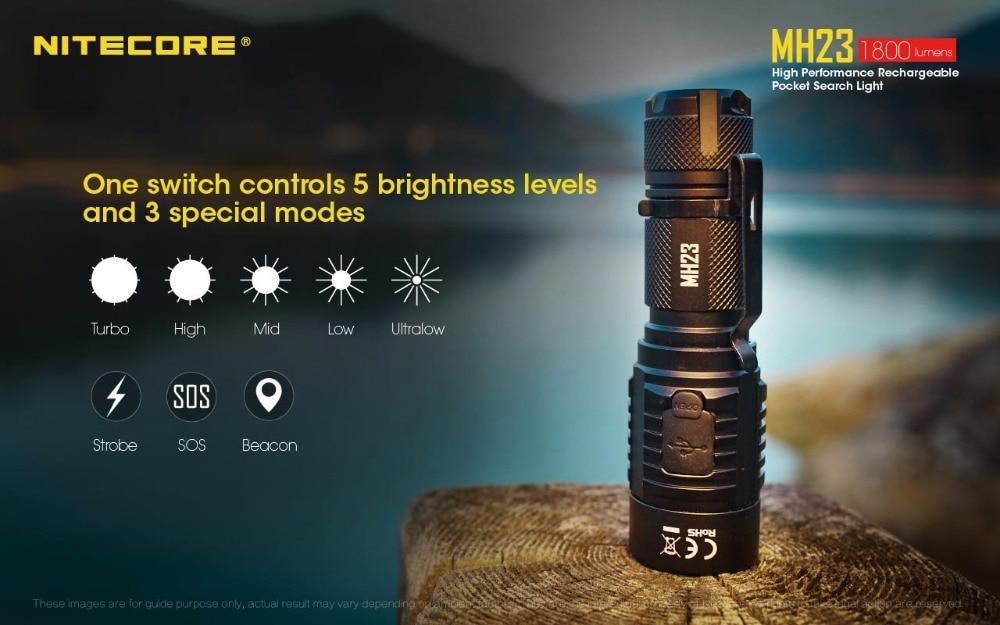 Nitecore-lanterna recarregável de bolso com luz led