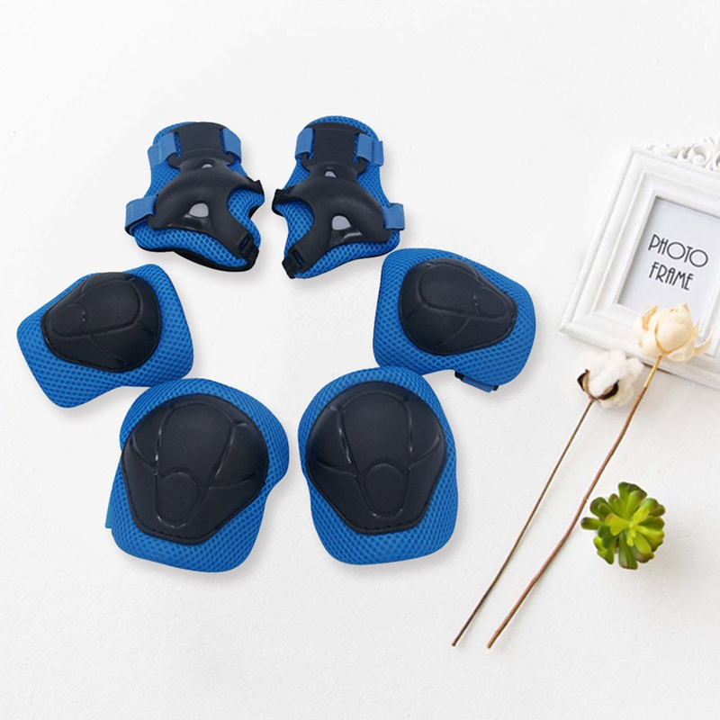 6pcs/set High Quality Children Activity Protector Children Bicycle Roller Skating Skateboard Protect Gear Knee Protector