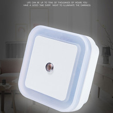0.5W Light Sensor Control Night Light Mini Lamps EU US Plug-in Auto Sensor Control LED Square Light Lamp for Bedroom Hallway portable led 0 7w night light control auto sensor baby bedroom lamp white eu plug 100v 240v ha10347