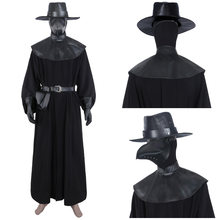 Adult Plague Doctor Steampunk Cosplay Costume Medieval Cape Robe Uniform Outfit Halloween Carnival Suit(China)
