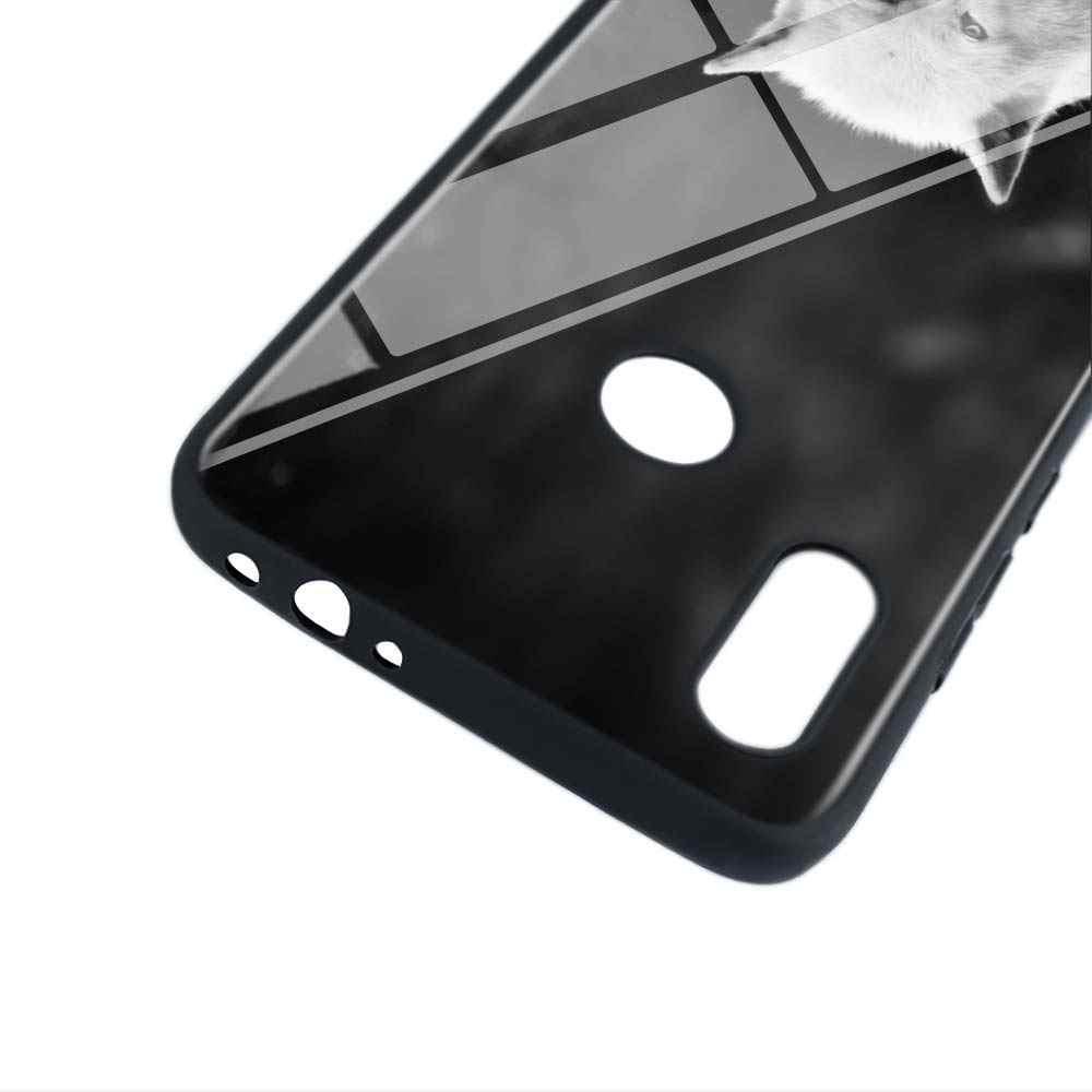 שחור מבריק כיסוי אופנה שחור זאב לxiaomi Redmi הערה 8 7 6 5 4X4 K20 פרו 7A 6A 6 S2 5A בתוספת טלפון מקרה