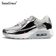 Susugrace Shinning Men Sneakers Breathable Running Outdoor Shoes