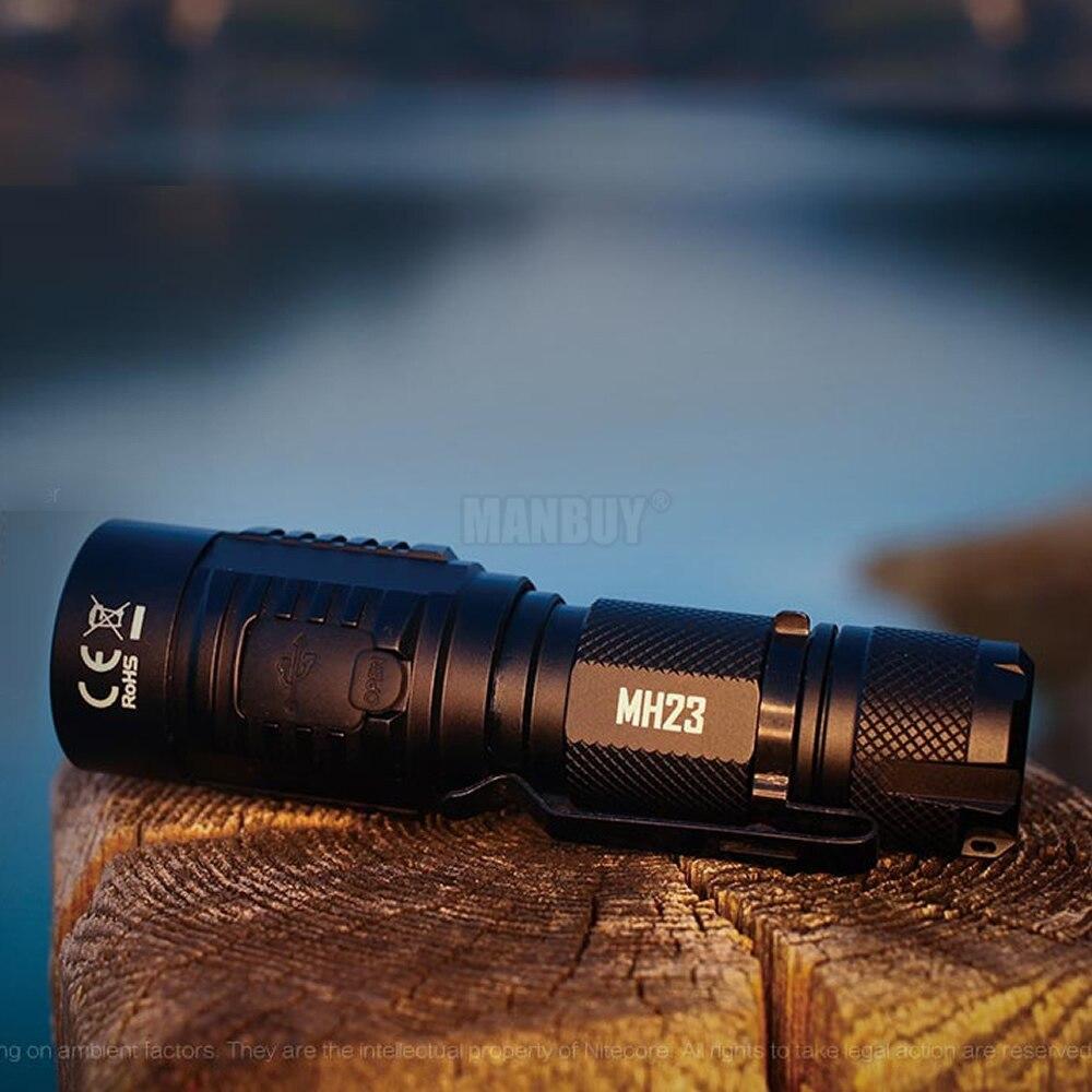 NITECORE MH23 taschenlampe 1800 Lumen CREE XHP35 HD LED mini Lampe Wasserdichte Taschenlampe mit 3500mAh Akku Kostenloser Versand - 3