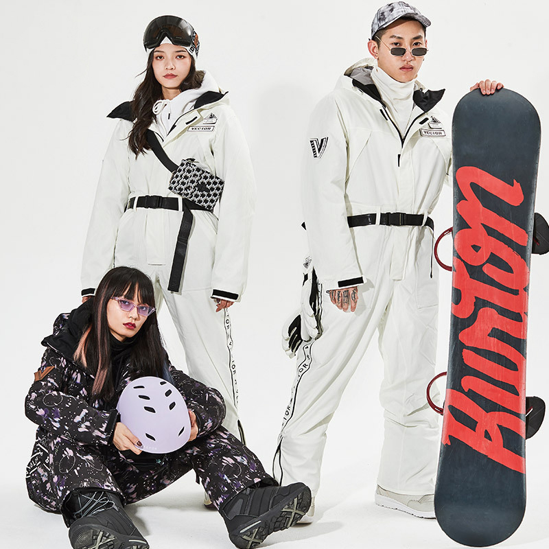 Лыжный костюм для мужчин и женщин, лыжный комбинезон, зимние уличные теплые ветрозащитные водонепроницаемые лыжные куртки и брюки, комплек...