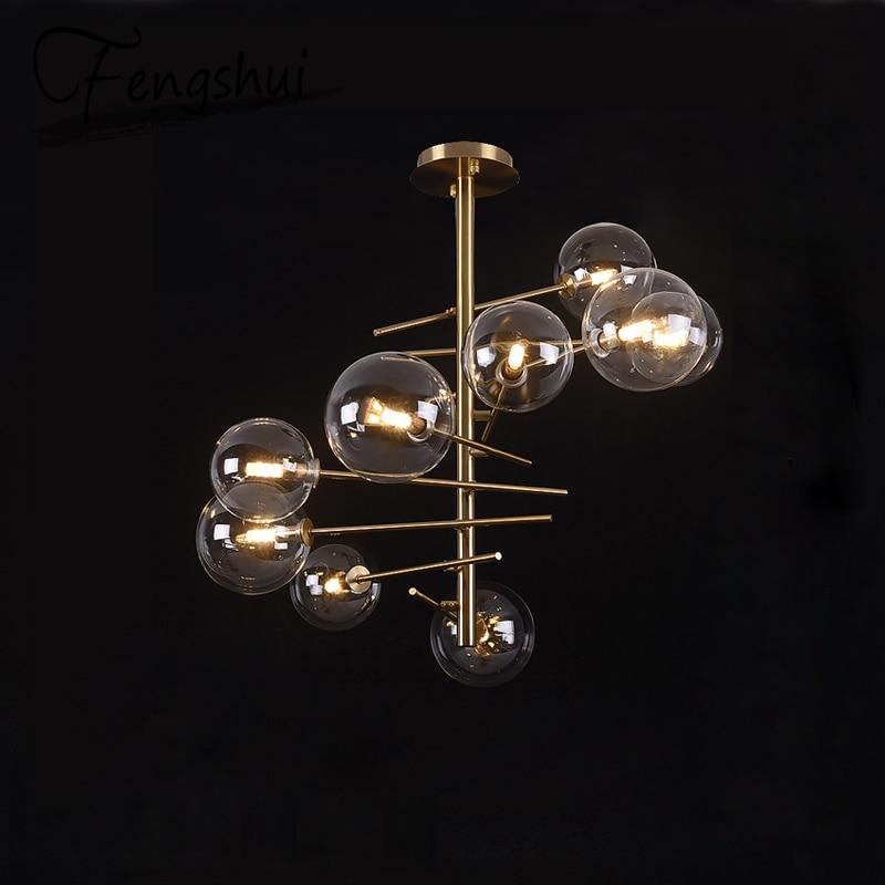 Nordic Luxury Glass Pendant Lights Lamp LED Pendant Lighting Living Room Dining Room Bedroom Kitchen Loft Decor Hanging Lamp