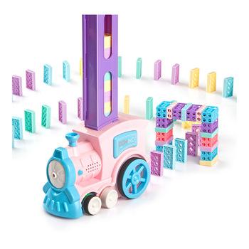 Macarons Domino mały pociąg automatyczne licencjonowanie umieścić mały pociąg kolejka dla dzieci klocki edukacyjne tanie i dobre opinie xin joanmiro 31X8X27 5 Shantou 2006A