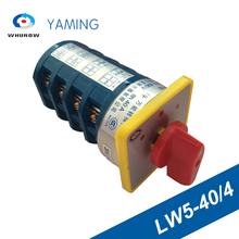 цена на Rotary Switch 3 Postion 40A 4 Poles Red Dot LW5-40/4 Main Universal Changeover Boat Switches Manual Silver Contact