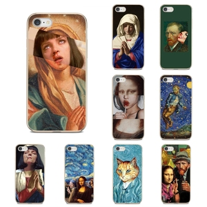 Image 1 - Silicone Phone Cover Bag For Nokia 7 Plus 2 3 5 8 9 2.1 3.1 5.1 6 2017 2018 230 3310 For Oneplus 3T 5T Mona Lisa Funny Spoof Art