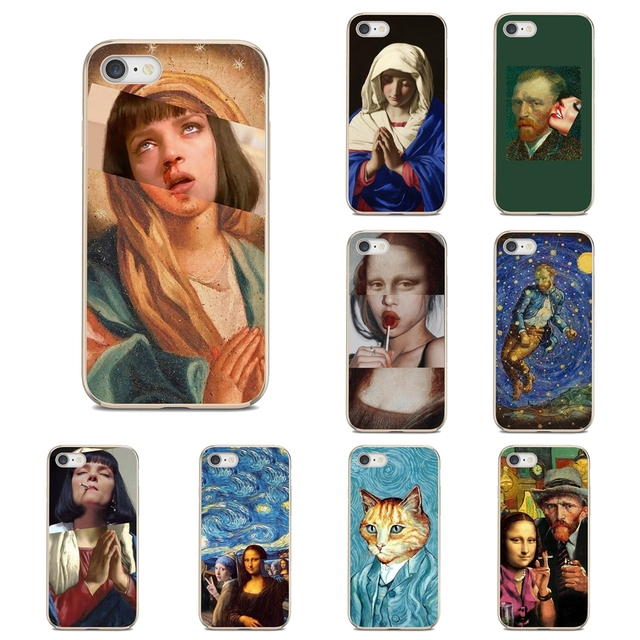 Silicone Phone Cover Bag For Nokia 7 Plus 2 3 5 8 9 2.1 3.1 5.1 6 2017 2018 230 3310 For Oneplus 3T 5T Mona Lisa Funny Spoof Art
