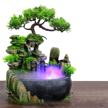 Resin Crafts Tabletop Feng Shui Decor Rockery Landscape Water Fountains Home Decoration Indoor Fountain Zen Garden