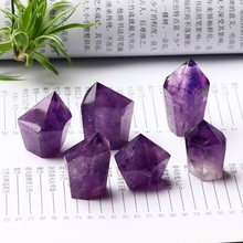 1PC Natural Crystal Amethyst Wand Quartz Crystal Modern Home Decoration Decoration Accessories Energy DIY Gift Collection Stone(China)