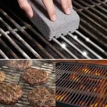 3 pçs bbq grill limpeza bloco de tijolo churrasqueira limpeza de pedra cremalheiras para churrasco manchas graxa mais limpa ferramentas para churrasco limpeza pedra dropship
