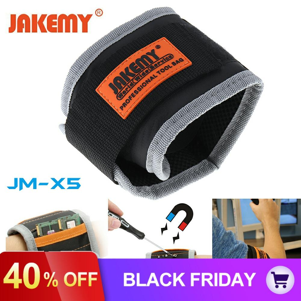Strong Magnetic Wristband Bracelet Belt Repair Tool Bag Pocket Pouch For Screw Nail / Drill Bit Wrist Band Holder