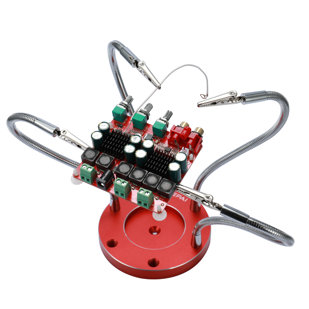 New Multifunctional Stainless Steel Soldering Helping Hands with 4pcs Flexible Arms for Circuit Board Welding Auxiliary Tools