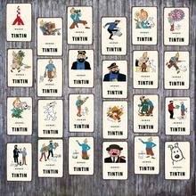 Tintin Cartoon Tin Metal Sign Plaque Vintage Shabby Chic Children Gift Wall Home Art Kids Room Decor ICuadros DU-3895A