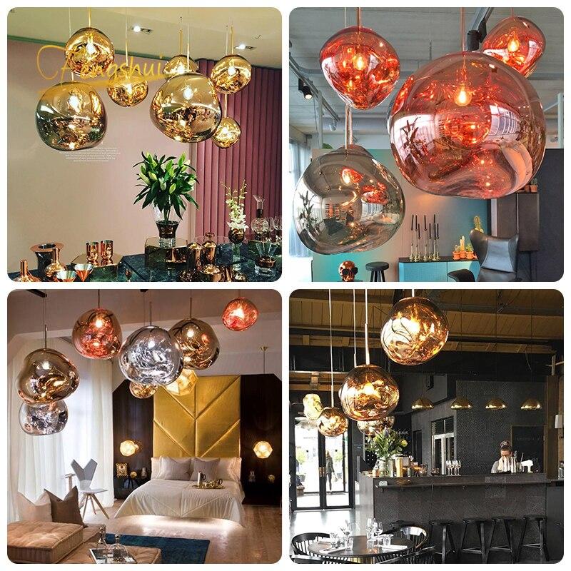 Image 5 - Nordic PVC LED Pendant Lights Lighting Lava Hanging Lamp for Living Room LOFT LED Pendant Lamp Bedroom Bar Luminarias HanglampPendant Lights   -