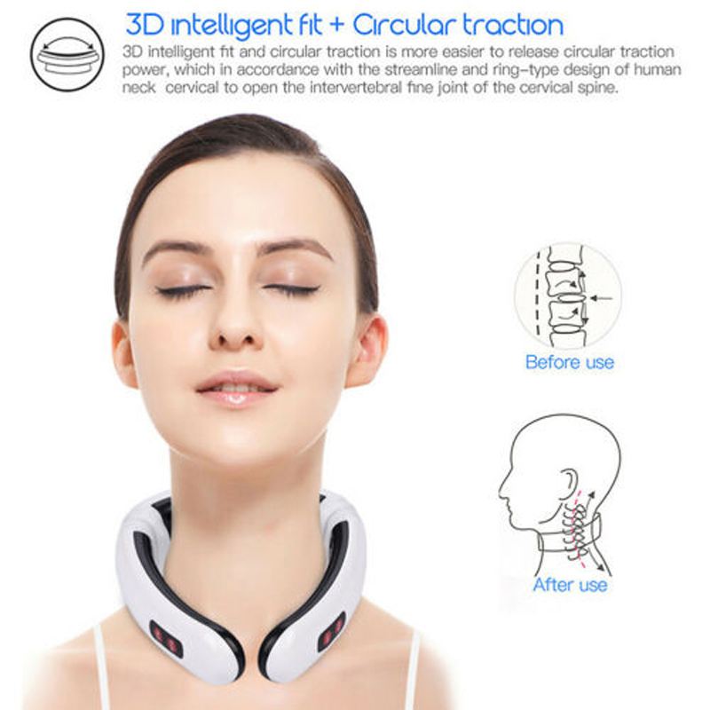 Electric Pulse Back and Neck Massager Relaxation  Multifunctional Physiotherap Pain Relief Tool Far Infrared Heating