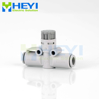 10PCS/bag Pneumatic throttle valve AS OD 4 6mm Air Flow Speed Control Valve Tube air Hose Pneumatic Push In Fittings