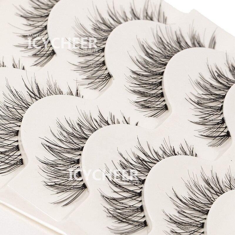 ICYCHEER, 5 пар натуральных мягких ресниц для макияжа, Толстые Накладные ресницы ручной работы, Новинка