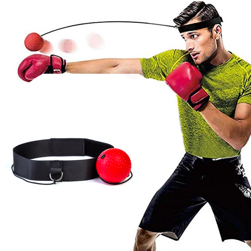 Boxing Punch Exercise Fight Ball Head Band Sport Reflex Reaction Speed Training