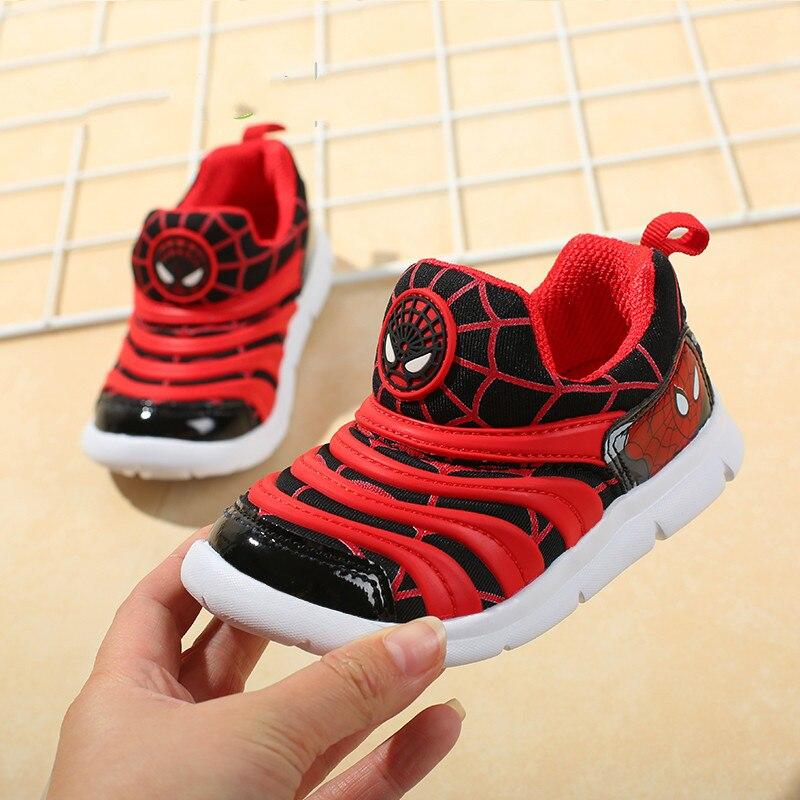 Anne ve Çocuk'ten Tenis Ayakk.'de 2019 bahar sonbahar örümcek adam çocuk ayakkabıları Boys için Sneakers kızlar spor çocuk rahat açık nefes bebek erkek çocuk ayakkabıları title=