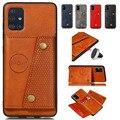 Кожаный чехол-книжка для Samsung Galaxy A52 A72 A12, чехол-накладка с кармашком для карт для Samsung S21 Ultra S21 PLUS s21 + S20 FE, чехлы